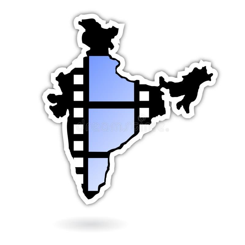 图标印度行业电影 向量例证