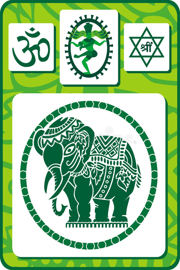 图标印第安集合符号 库存照片