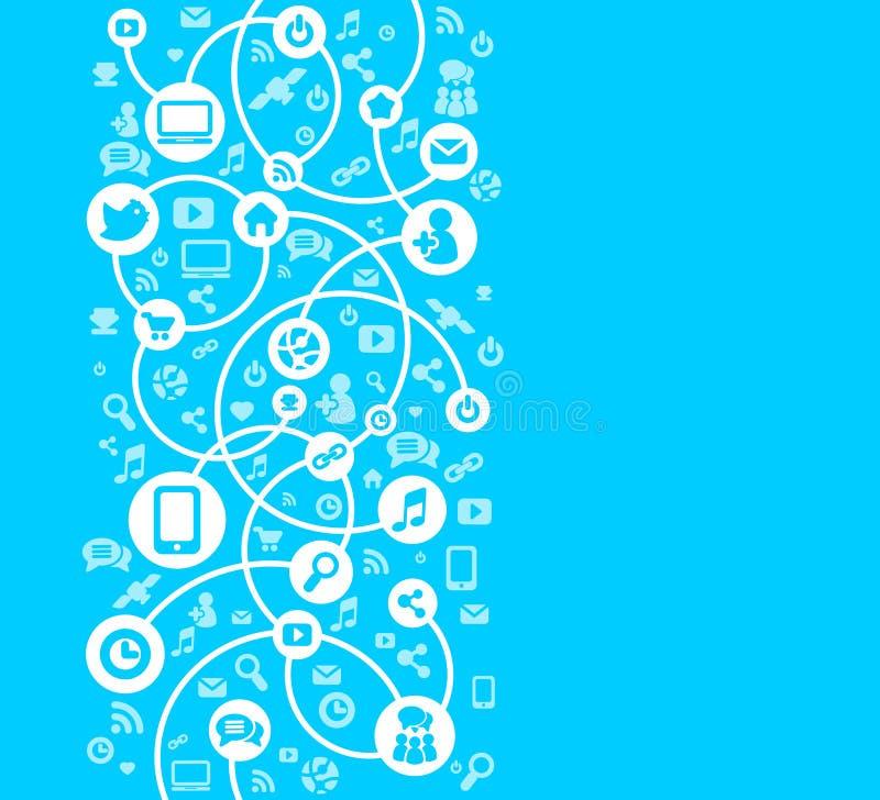 图标向量的社会网络背景 向量例证