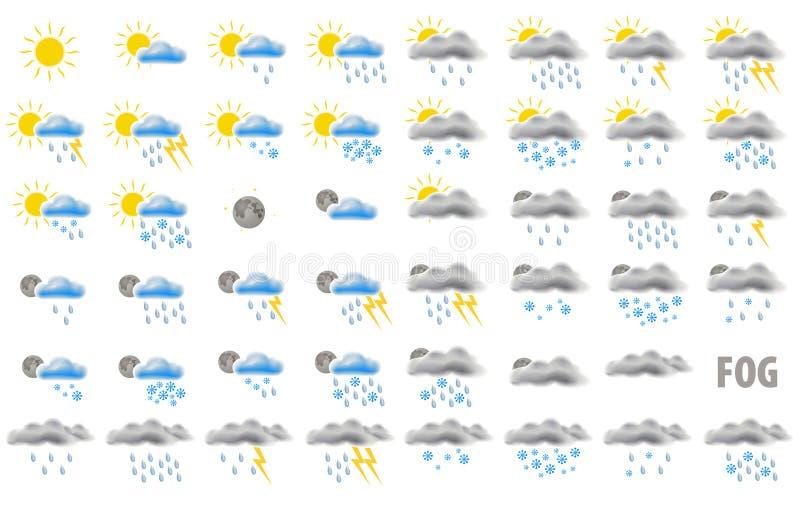 图标天气万维网 皇族释放例证