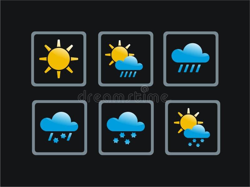 图标天气 图库摄影