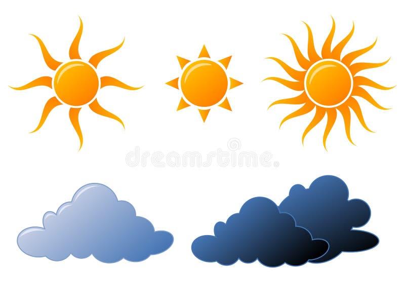 图标天气 库存例证