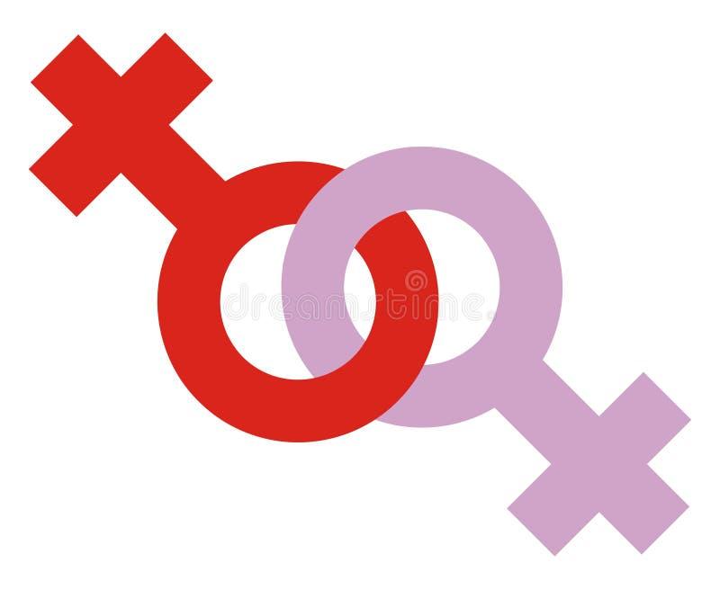 图标女同性恋者 皇族释放例证