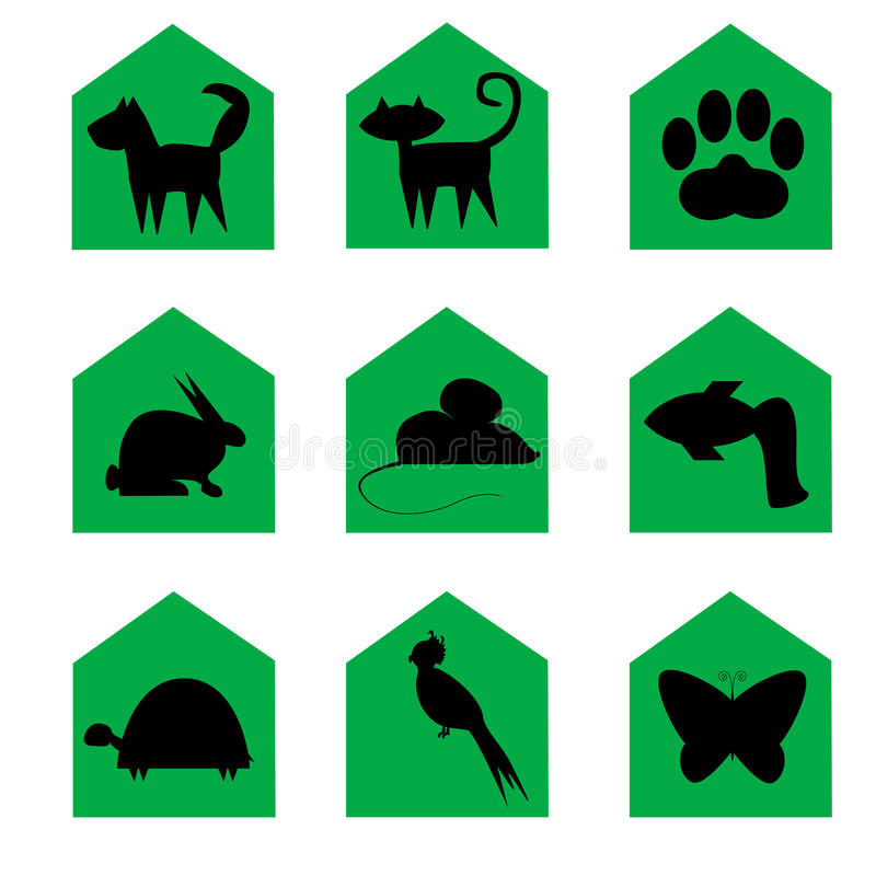 图标宠物 向量例证