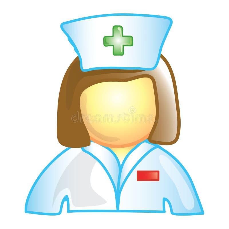 图标护士 皇族释放例证