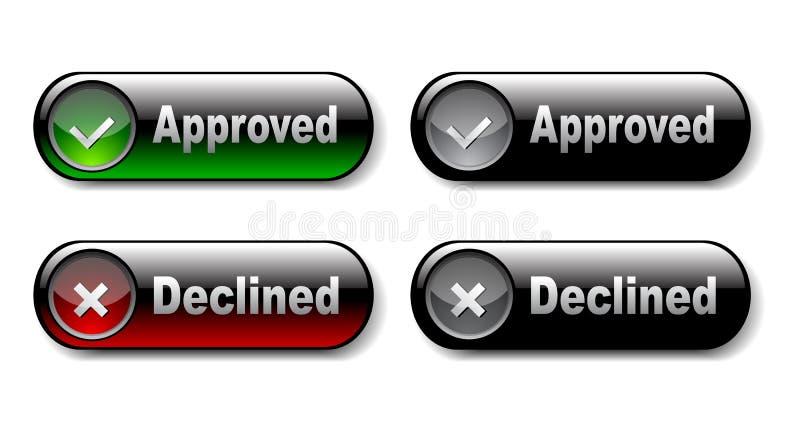 图标拒绝验证 向量例证