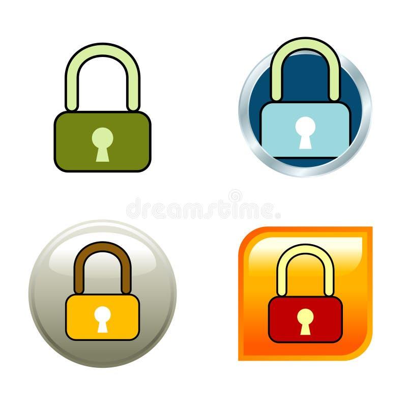 图标挂锁 向量例证