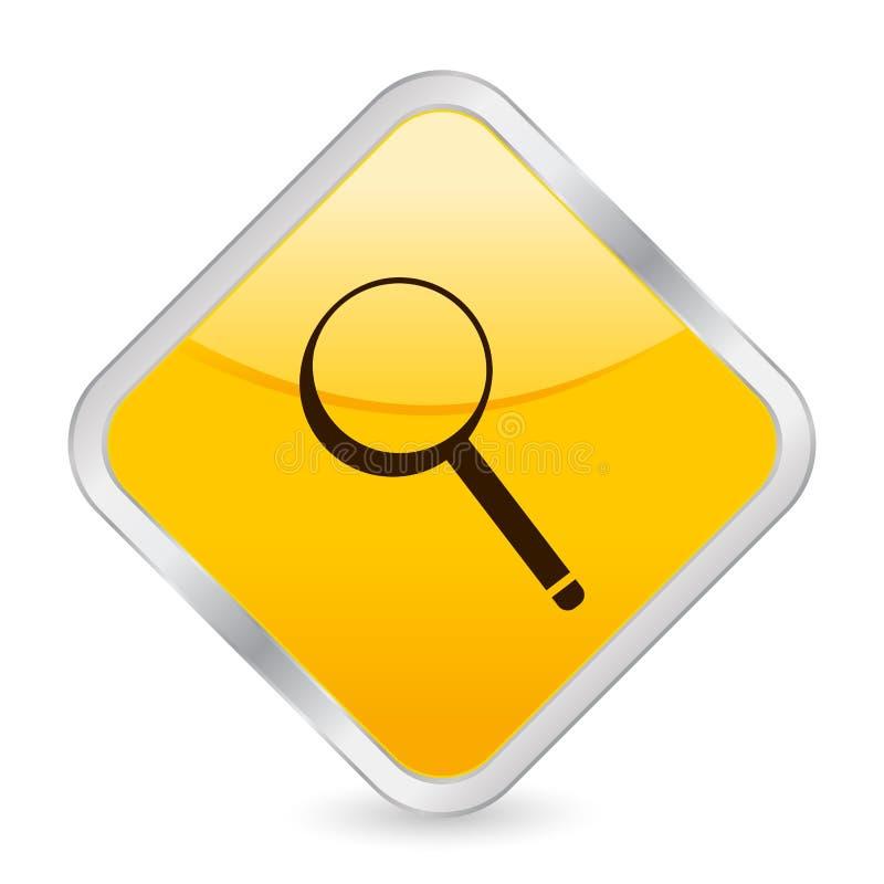 图标放大器正方形黄色 库存例证
