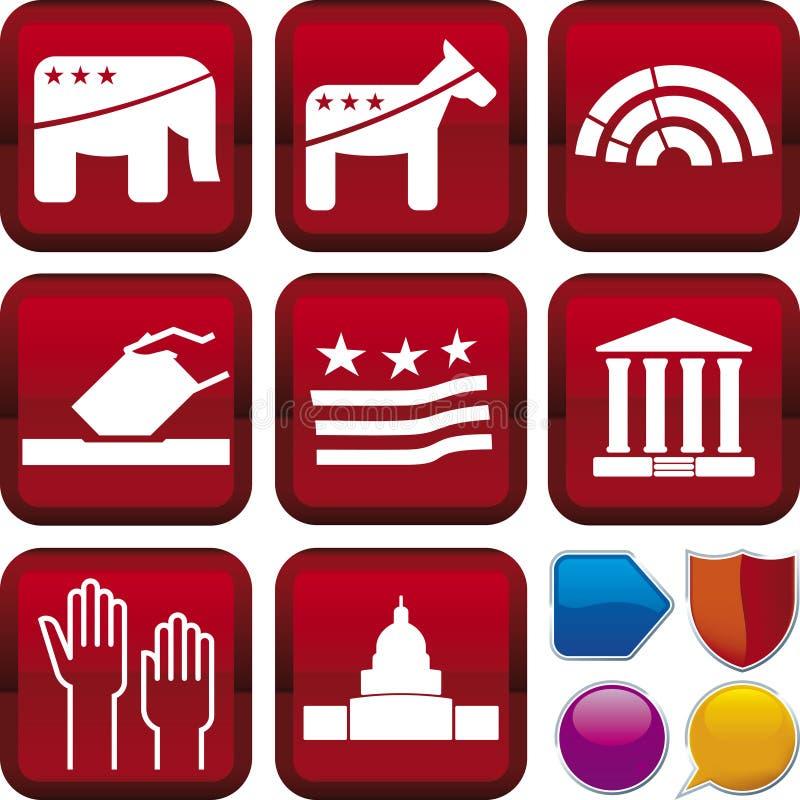 图标政治系列 向量例证