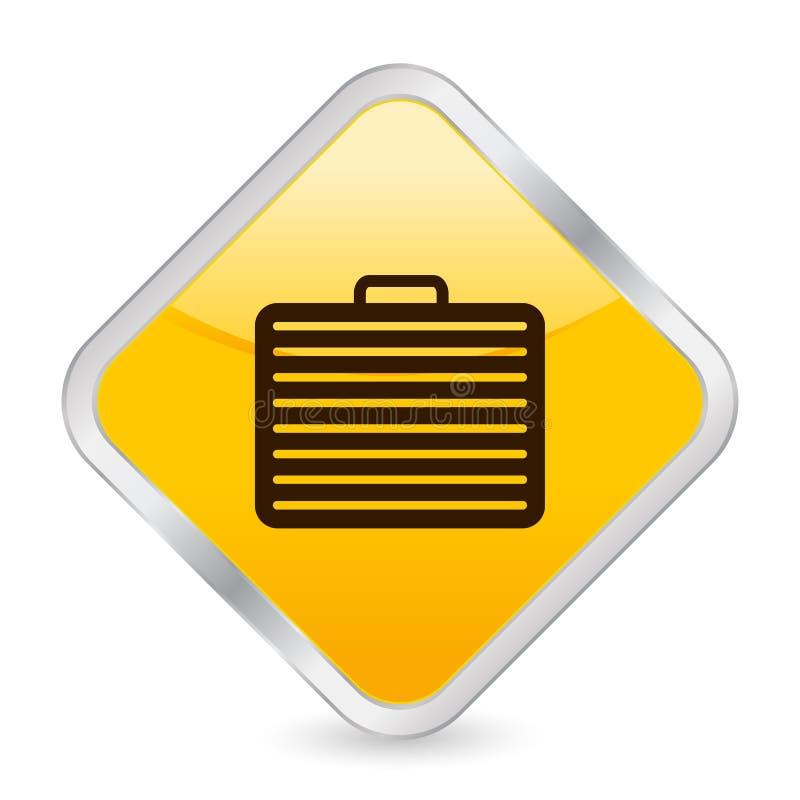 图标方形手提箱黄色 库存例证