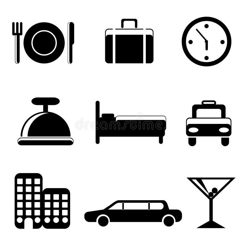 图标服务旅行 向量例证
