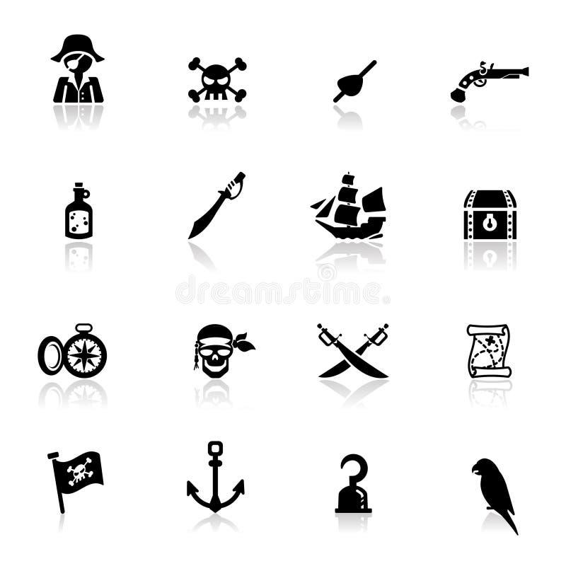 图标海盗被设置 向量例证