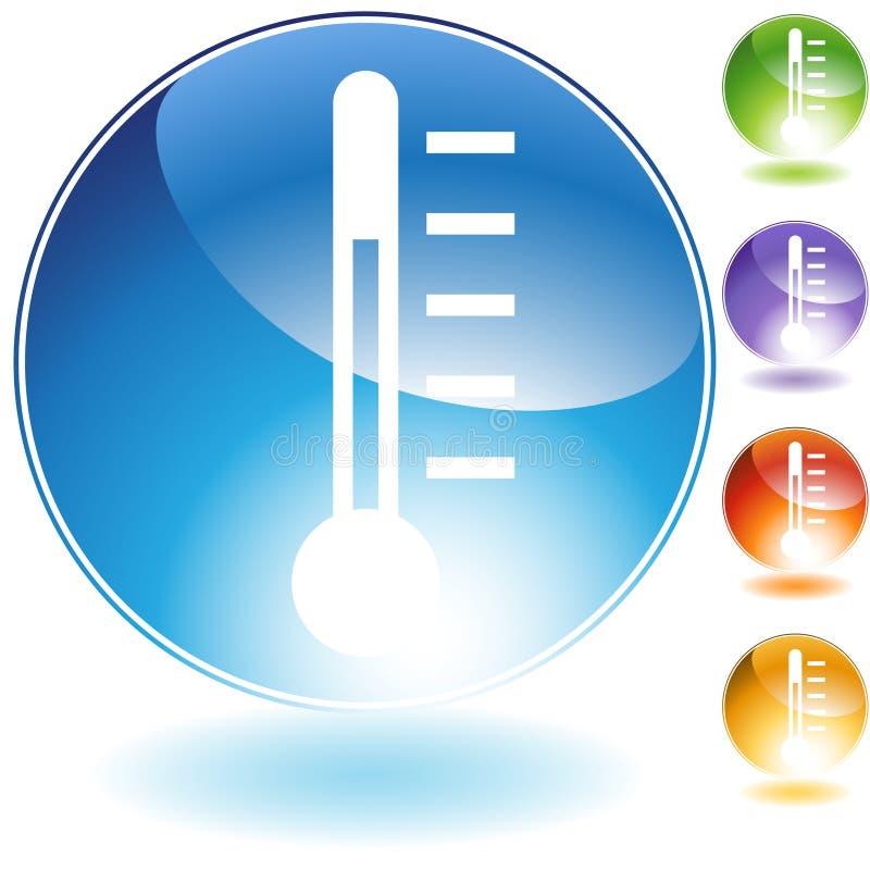 图标温度计 库存例证