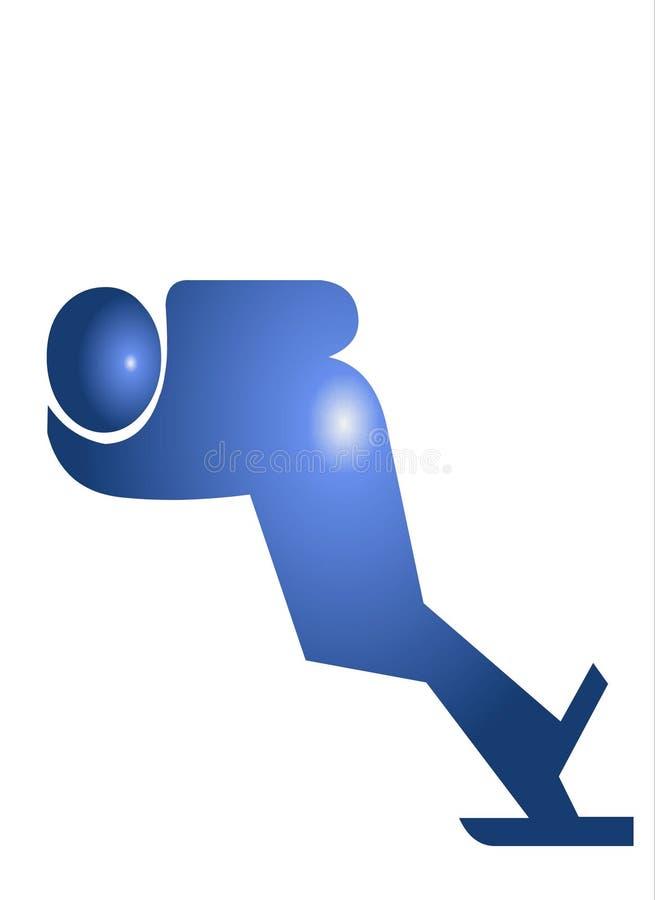 图标滑冰的符号 向量例证