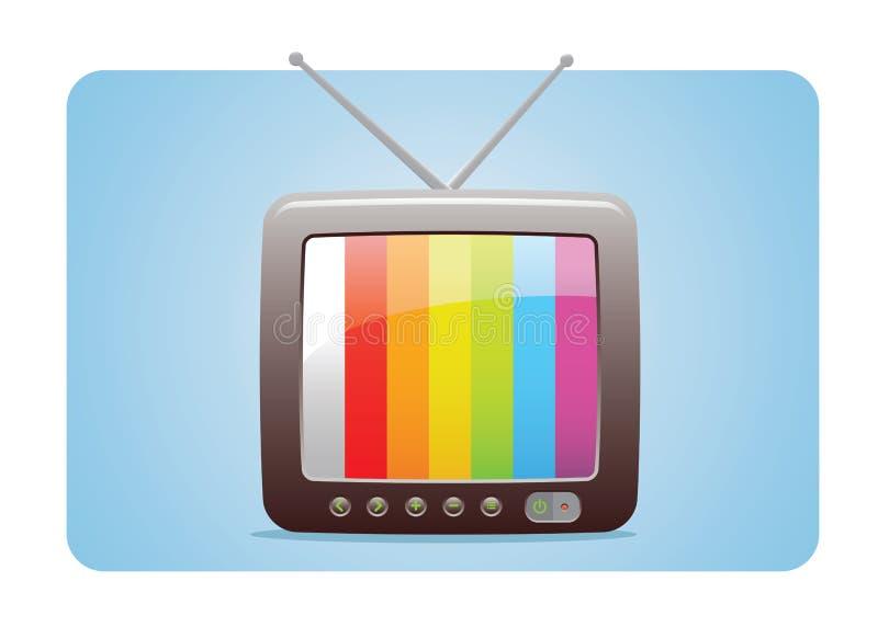 图标电视 皇族释放例证