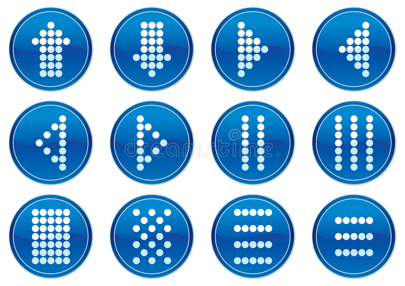 图标矩阵集合符号 库存例证