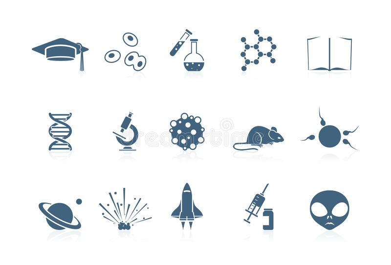 图标短笛科学系列 库存例证