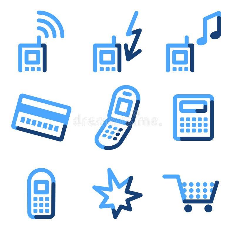 图标移动电话 库存例证