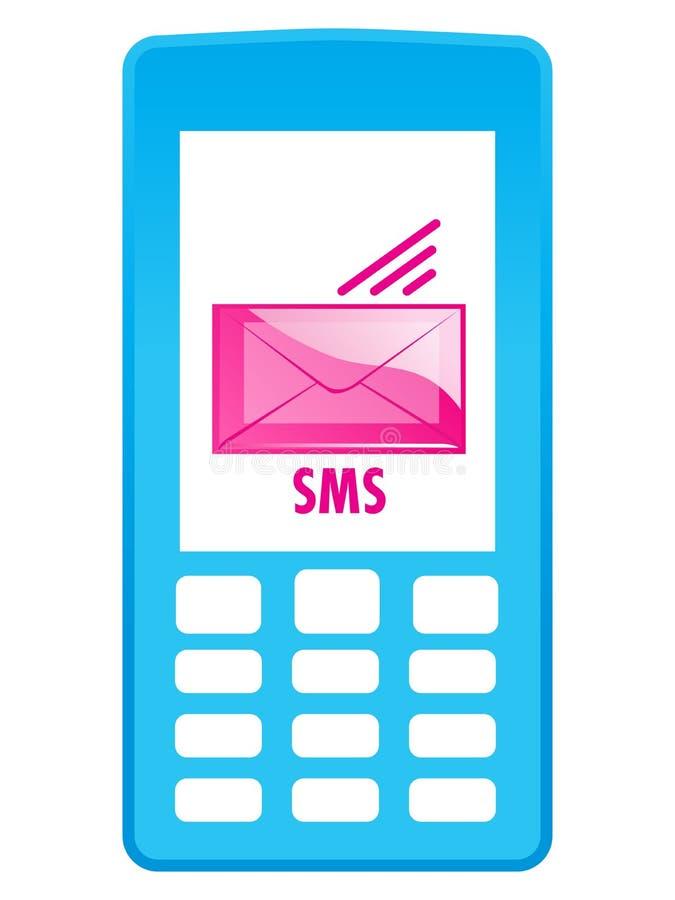 图标移动电话sms 皇族释放例证