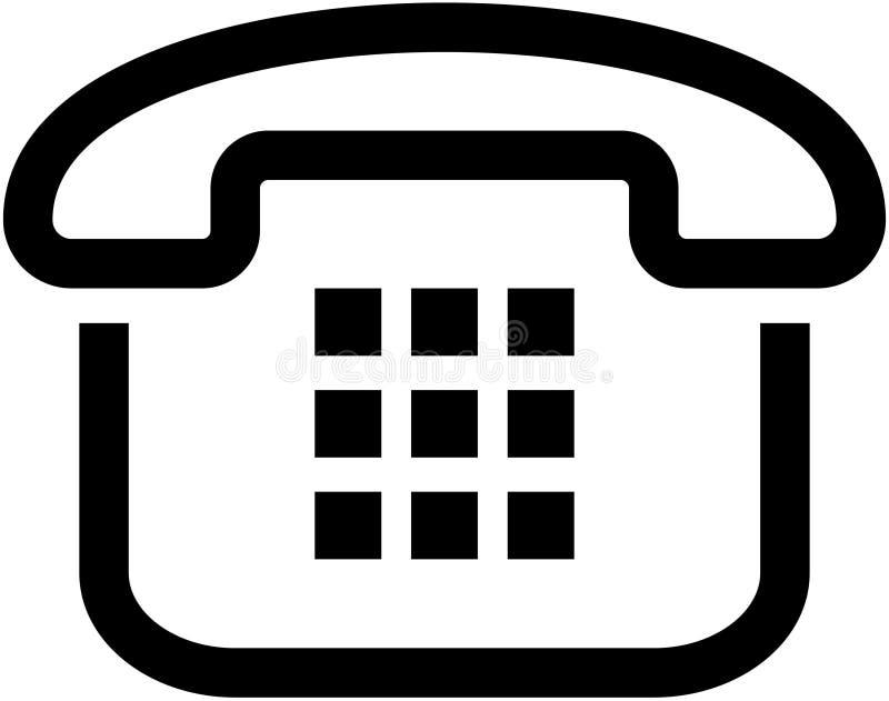 图标简单例证的电话 库存例证