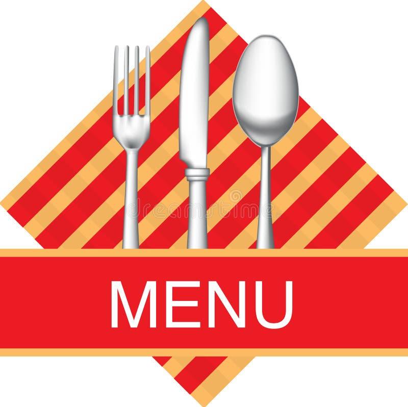 图标菜单餐馆 向量例证