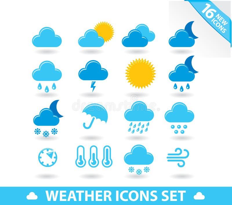 图标被设置的天气 库存例证