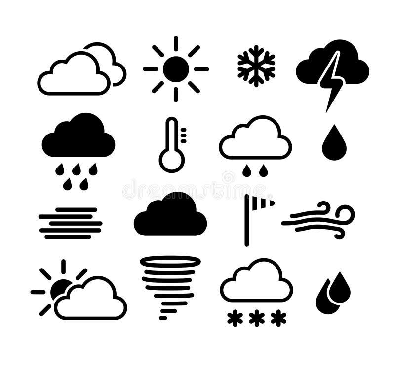 图标被设置的天气 皇族释放例证