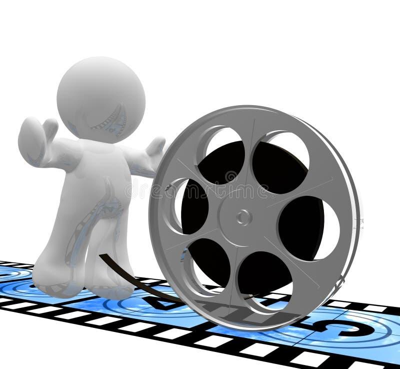 图标让拍电影s 向量例证
