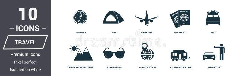 图标设置了旅行 优质质量标志收藏 蜜月象设置了简单的元素 立即可用在网络设计,应用程序,softwar 向量例证