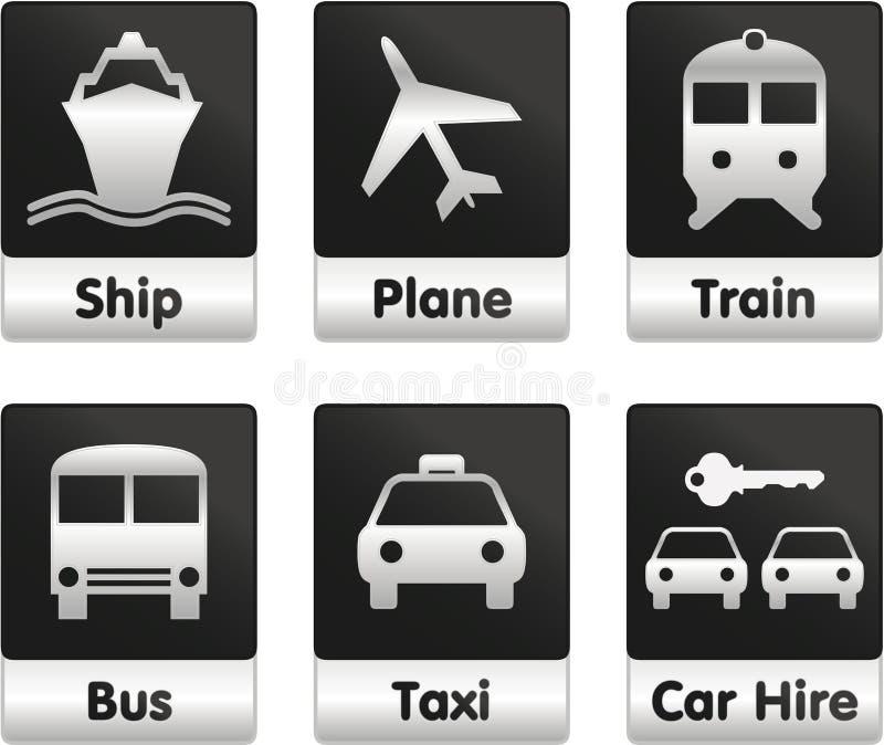 图标设置了旅行 库存例证