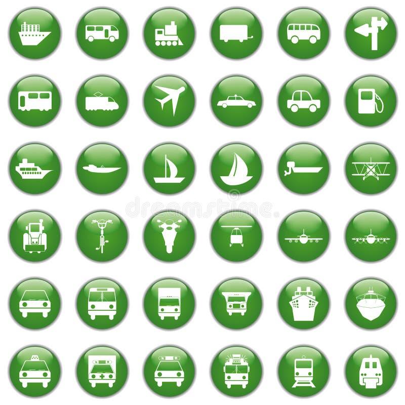 图标设置了运输 库存例证