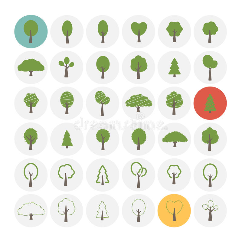 图标设置了结构树 向量例证