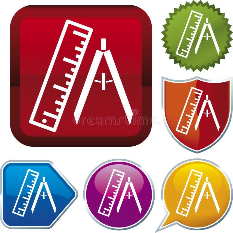 图标评定系列 库存例证