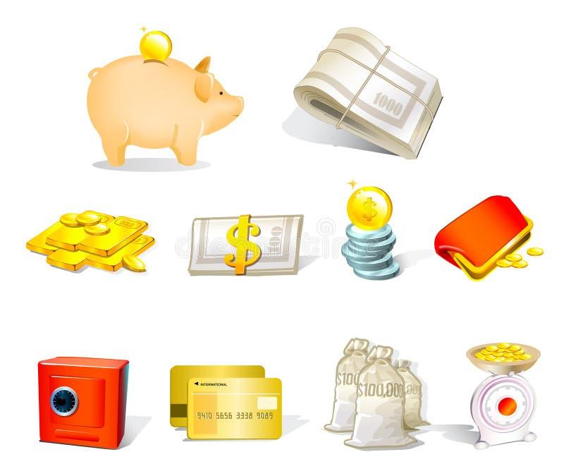 图标货币向量 向量例证