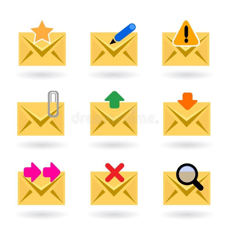 图标邮件万维网 向量例证