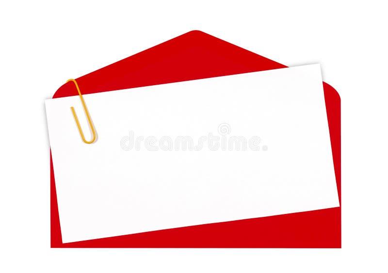 图标邮件红色 库存例证