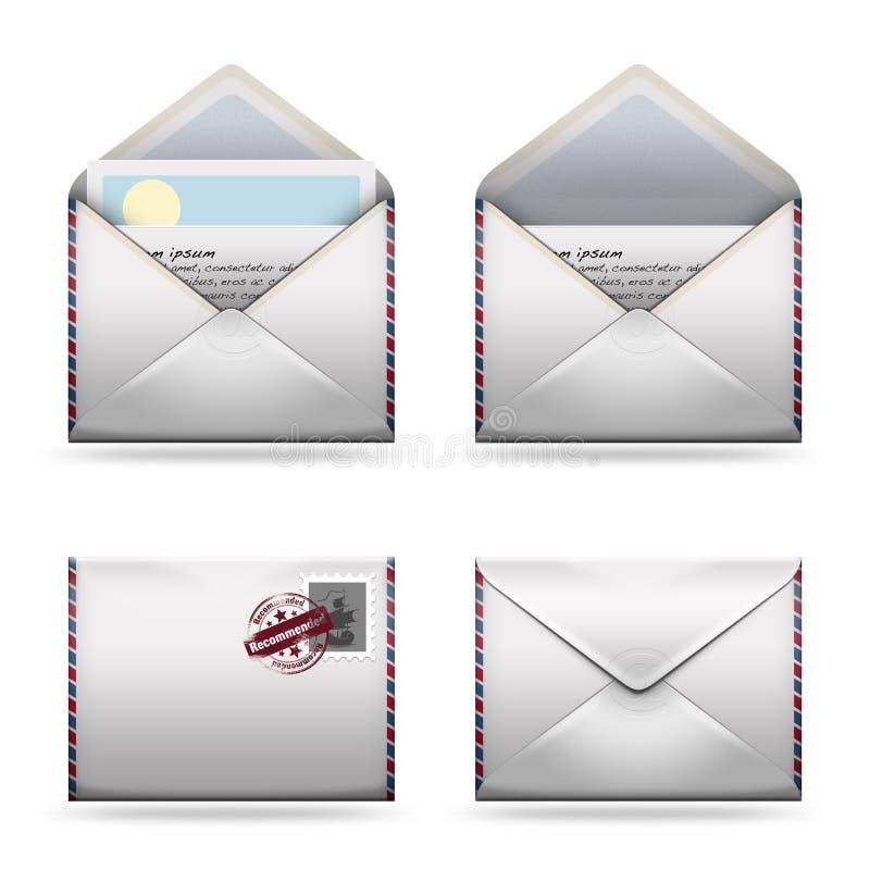 图标邮寄集 免版税库存照片
