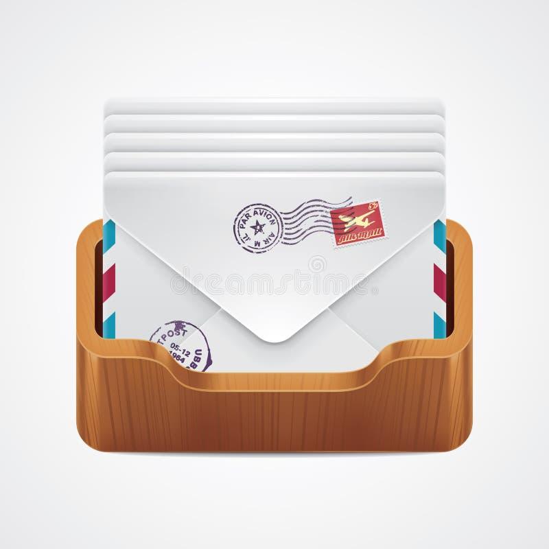 图标邮箱向量 库存例证