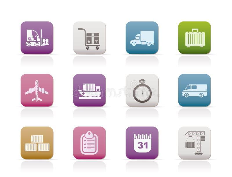 图标采购管理系统发运运输 库存例证