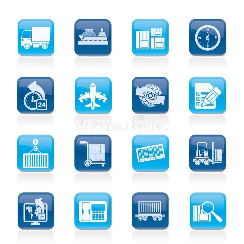 图标采购管理系统发运 库存例证