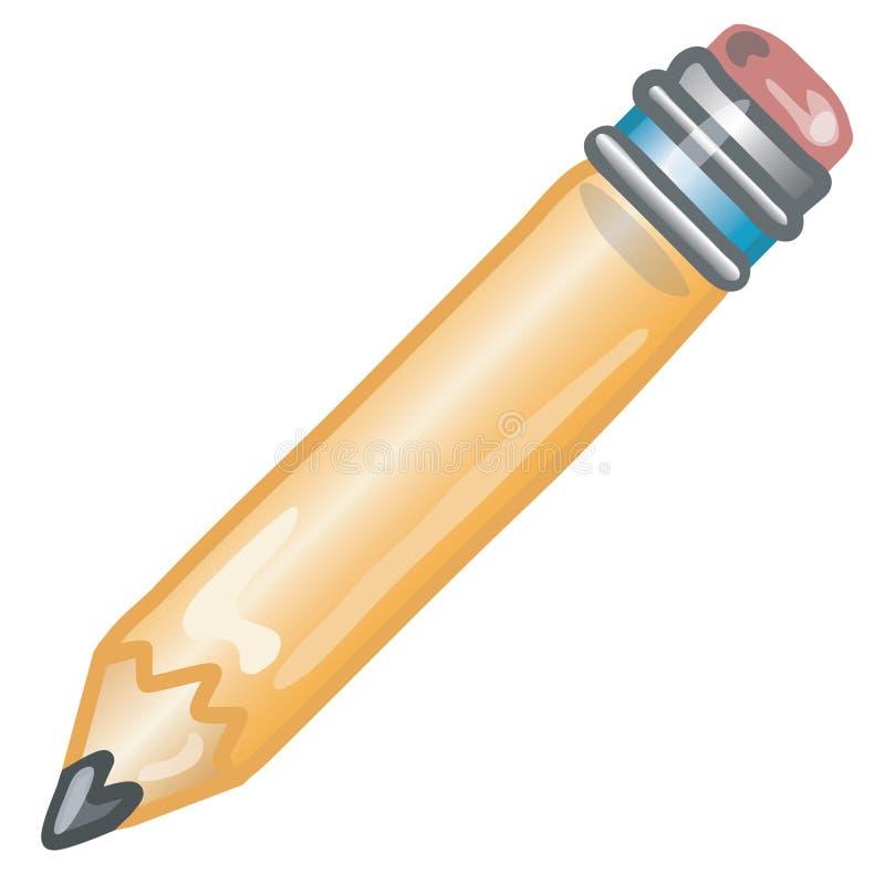 图标铅笔 皇族释放例证