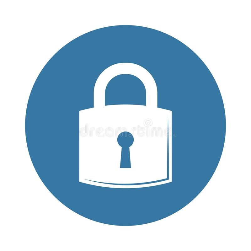 图标锁定集合向量万维网 锁和钥匙象的元素流动概念和网apps的 徽章样式锁象可以为网和流动ap使用 皇族释放例证