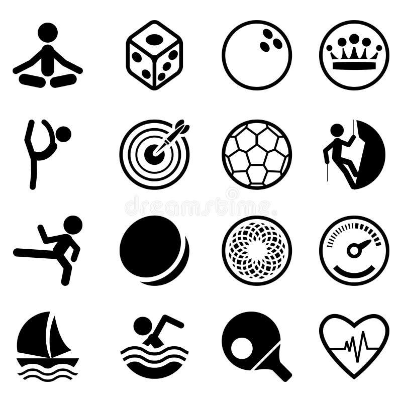 图标集合体育运动 库存例证
