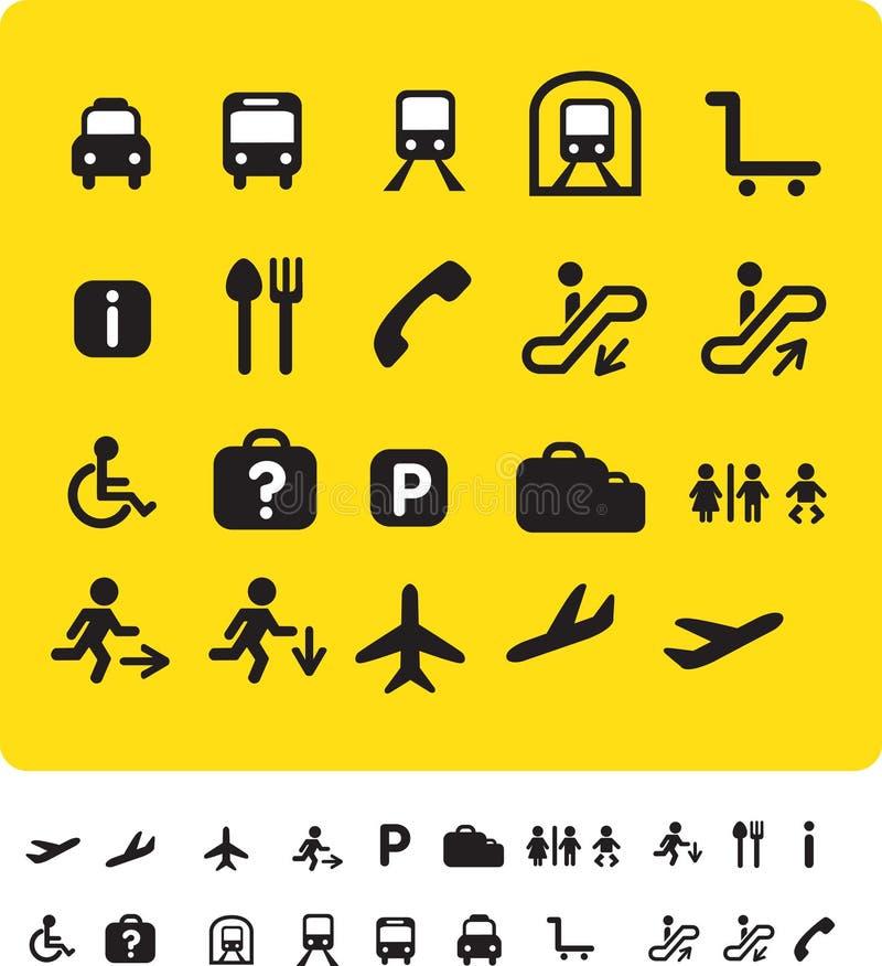 图标集合旅行黄色 库存例证