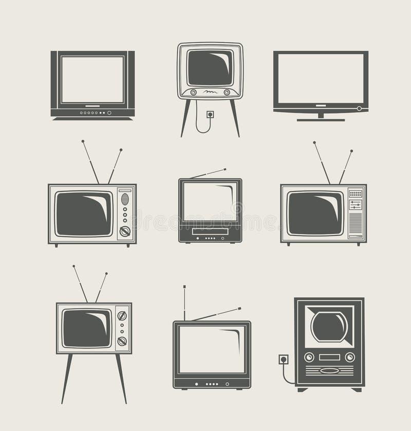 图标集合电视 皇族释放例证