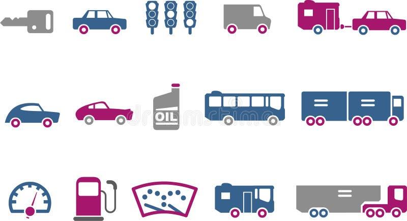 图标集合运输 向量例证