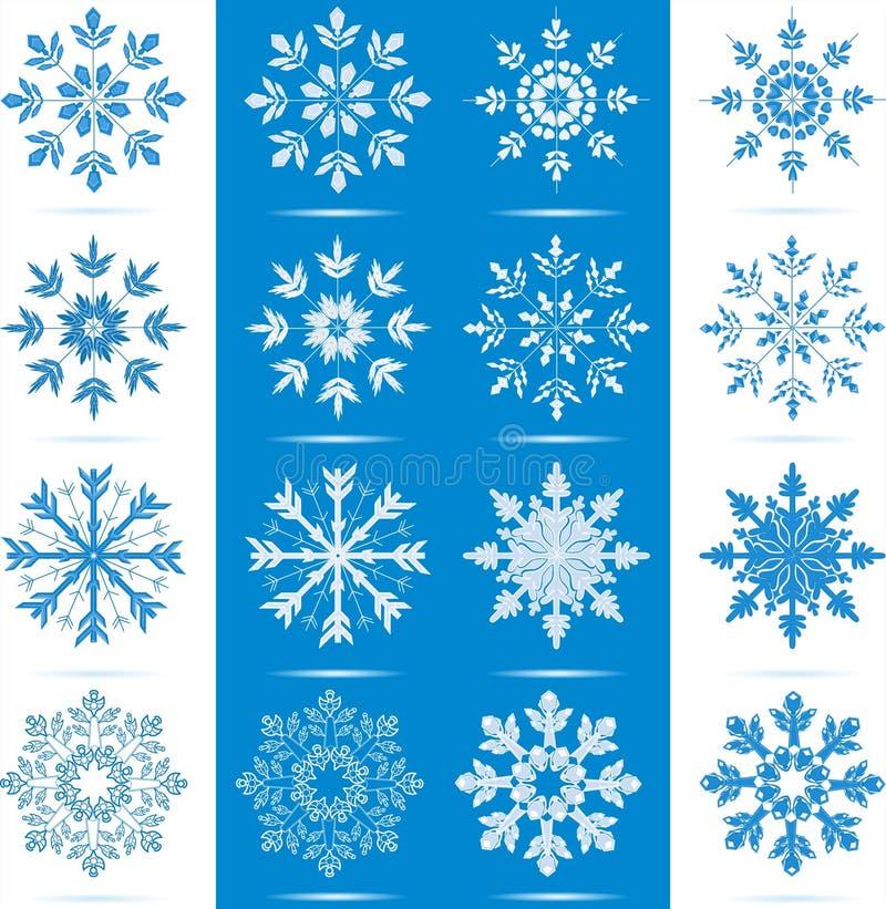 图标集合雪花 向量例证