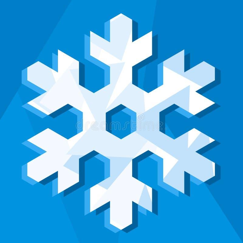 图标雪花向量 向量例证