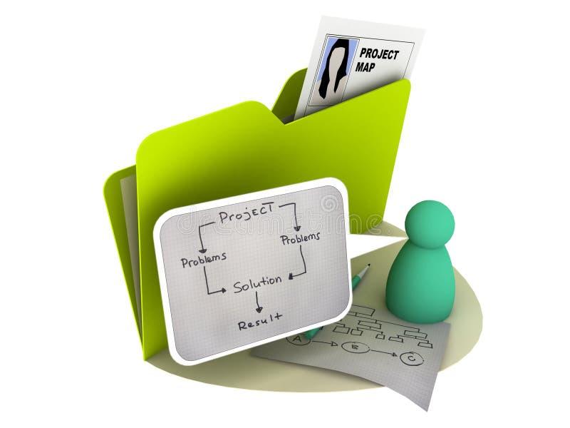 图标项目 库存例证