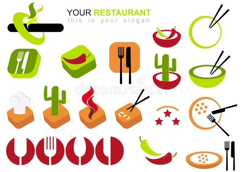 图标餐馆集 向量例证